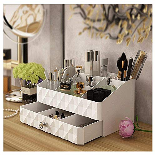 Maxkim Makeup Organizer Jewelry and Cosmetic Storage,Large Capacity,Fit Different Size of Cosmetic,Brushes,Palettes,Lipsticks,1 Drawer 9 Compartment (Small ()