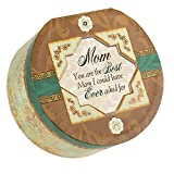 Cottage Garden Mom Belle Papier Round Musical Jewelry Box with Elegance Finish Plays Wind Beneath My Wings