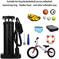 Yorgewd Mini Bike Pump Portable/Foot Activated Bicycle Pump/with Presta /& Schrader Valves Gas Needle for Road Bike Mountain Bike Balls Balloons
