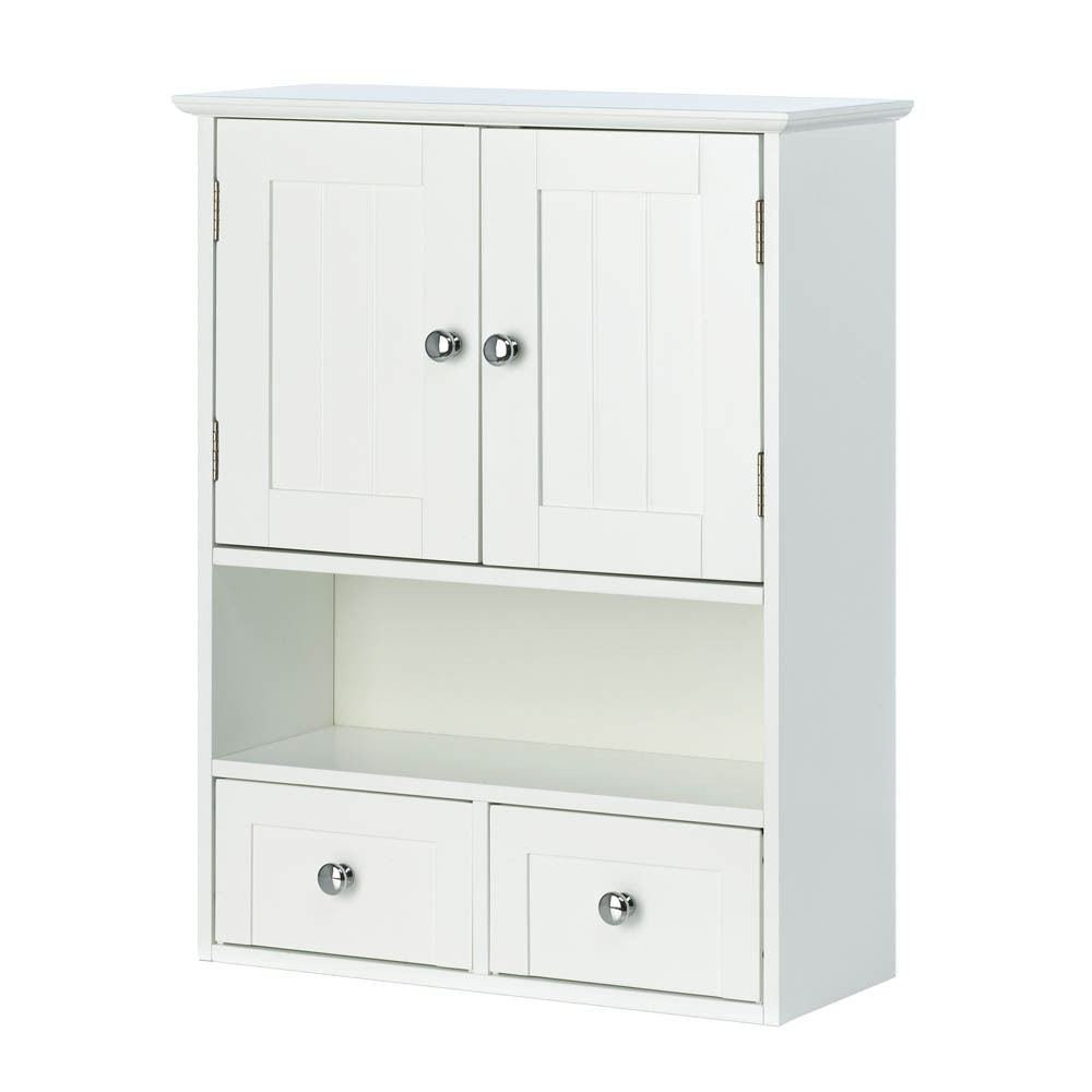Amazon.com: NANTUCKET STYLE STORAGE WALL CABINET WITH DRAWER WHITE ...