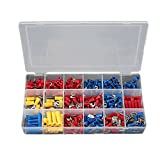 Stanz (TM) 300Pcs Assorted Crimp Terminal Set Insulated Electrical Wiring Connector Kit