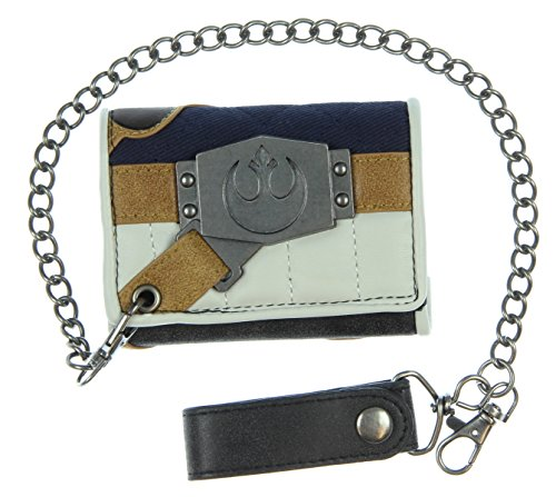 Star Wars Star Wars Han Solo Chain Wallet, Gray, One (Logo Leather Chain Wallet)
