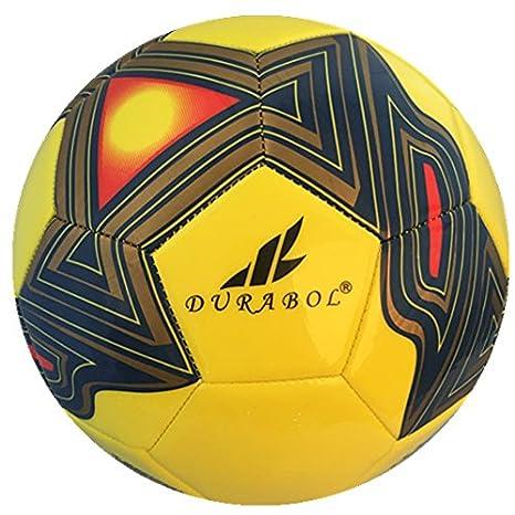 Durabol Balón de fútbol football talla 5 Color Amarillo DB-0041 ...
