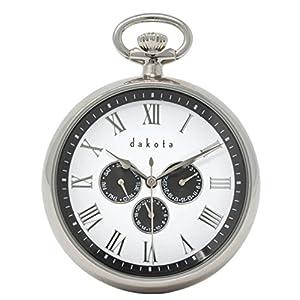Engravable pocket watch by Dakota, Silver