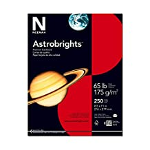 Neenah Astrobrights Premium Color Cardstock, 65 lb, 8.5 x 11 Inches, 250 Sheets, Re-Entry Red