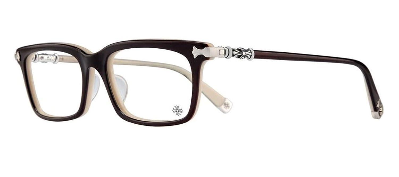 Amazon.com: Chrome Hearts - Fun Hatch-A - Eyeglasses (Black and Tan ...