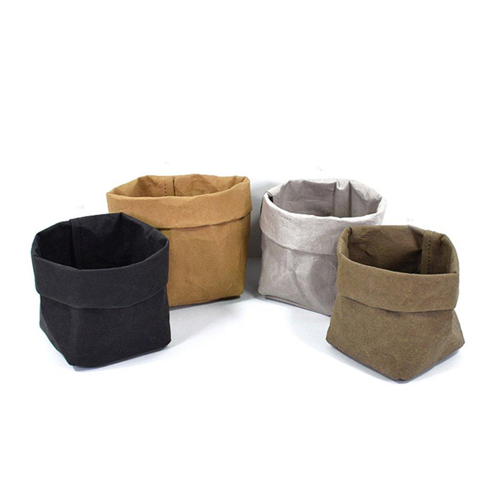 LianLe Kraft Paper Storage Eco-friendly Paper Bag Paper Basket Washable Paper Bag