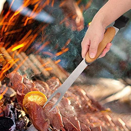Outil de Barbecue, Niunion 5 en 1 Fonction Outil de Barbecue détachable Multifonctionnel Ensemble d'outils de Barbecue Pliant pour Barbecue en Plein air