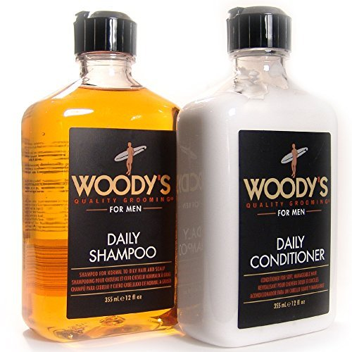 Woody's Quality Grooming for Men, Daily Shampoo & Conditioner (12 Ounce) by Woody's