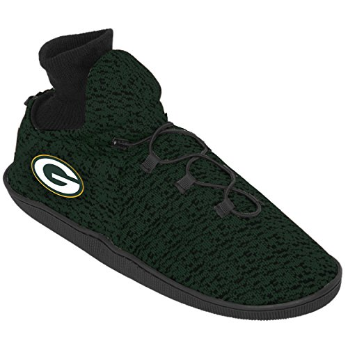 (Forever Collectibles Green Bay Packers Poly Knit Sneaker Slippers, Small (7-8) )