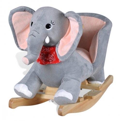 Meloo Schaukeltier Schaukelpferd Schaukel Tier Wippe Baby Spielzeug mehrere Auswahl (Elefant)
