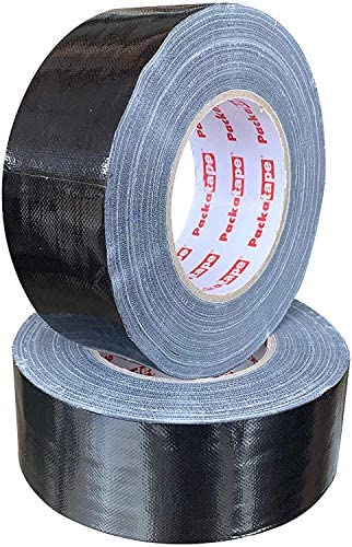 Packatape Black Duct Cloth Tape 50mm x 50 Meters Super Sticky Extra Strong (2 Pack): Amazon.es: Bricolaje y herramientas