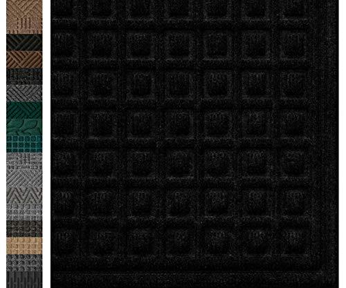 Durable Rubber Door Mat 29x17, Odorless, Non Slip Dirt Trapper, Heavy Duty,...