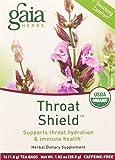 Gaia Herbs Throat Shield Herbal Tea Bags, 16 Count