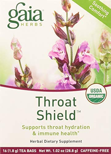 (Gaia Herbs Throat Shield Herbal Tea Bags, 16 Count)