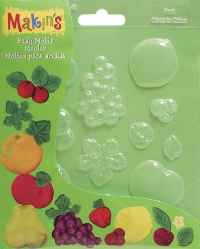 Makin's Clay Push Molds-Fruits 1 pcs sku# 655274MA ()
