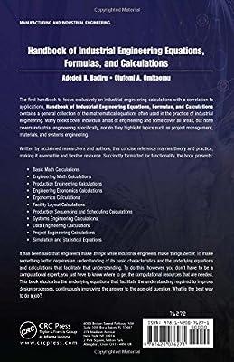 Handbook of Industrial Engineering Equations, Formulas, and Calculations