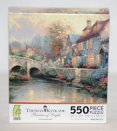 Collection Cobblestone 1 Light (Thomas Kinkade 550 Piece Jigsaw Puzzle - Cobblestone Brooke by Ceaco)