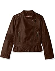 Urban Republic Girls' Faux Leather Moto Jacket