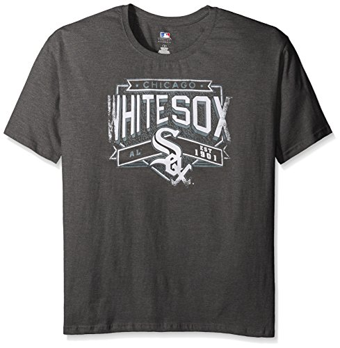 Profile Big & Tall MLB Chicago White Sox Women's Team Short Sleeved Screen T-Shirt, 1X, Charcoal/Heather (Sox Ladies Charcoal)