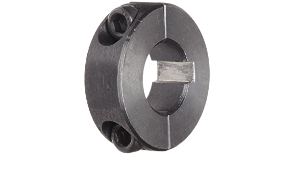 Black Oxide Plating 1-11//16 Bore Size 2-3//4 OD Climax Metal 2C-168 Steel Two-Piece Clamping Collar With 5//16-24 x 1 Set Screw