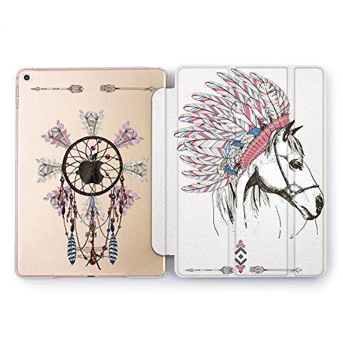 Wonder Wild Indian Horse iPad Case Pro 9.7 inch Mini 1 2 3 4 Air 2 10.5 12.9 Gold Animal Boho Apple Smart Cover Feather Clear 5th 6th Gen Fashion Design 2017 2018 Animals Spirit Magic Heritage]()