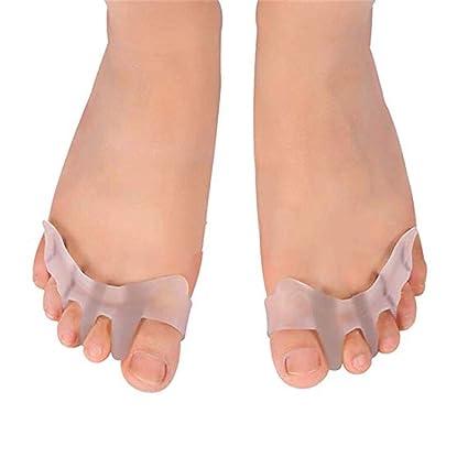 Camillas de dedo del pie de gel Separadores de dedos: Combate Hallux Valgus, juanetes