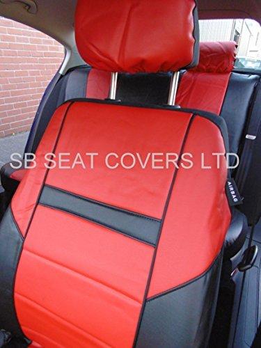 Dacia Sandero Car Seat Covers Rossini ROS 0211 Red Leatherette Prestige