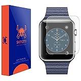 Skinomi® MatteSkin [6 Pack] - Apple Watch 42mm Matte Screen Protector [Full Screen Coverage + WaterProof] Anti-Glare / Anti-Fingerprint / Anti-Bubble - Lifetime Replacement Warranty