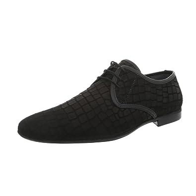 Ital-Design Herrenschuhe Business-Schuhe Budapester Stil Glattleder Schwarz  Gr. 40 06862bc63c