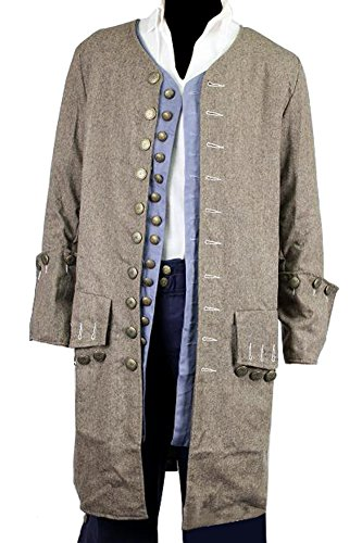 dc74f822f55 Exact Jack Sparrow Coat Pirate Costume Jacket M/L/XL (M) - Import It All