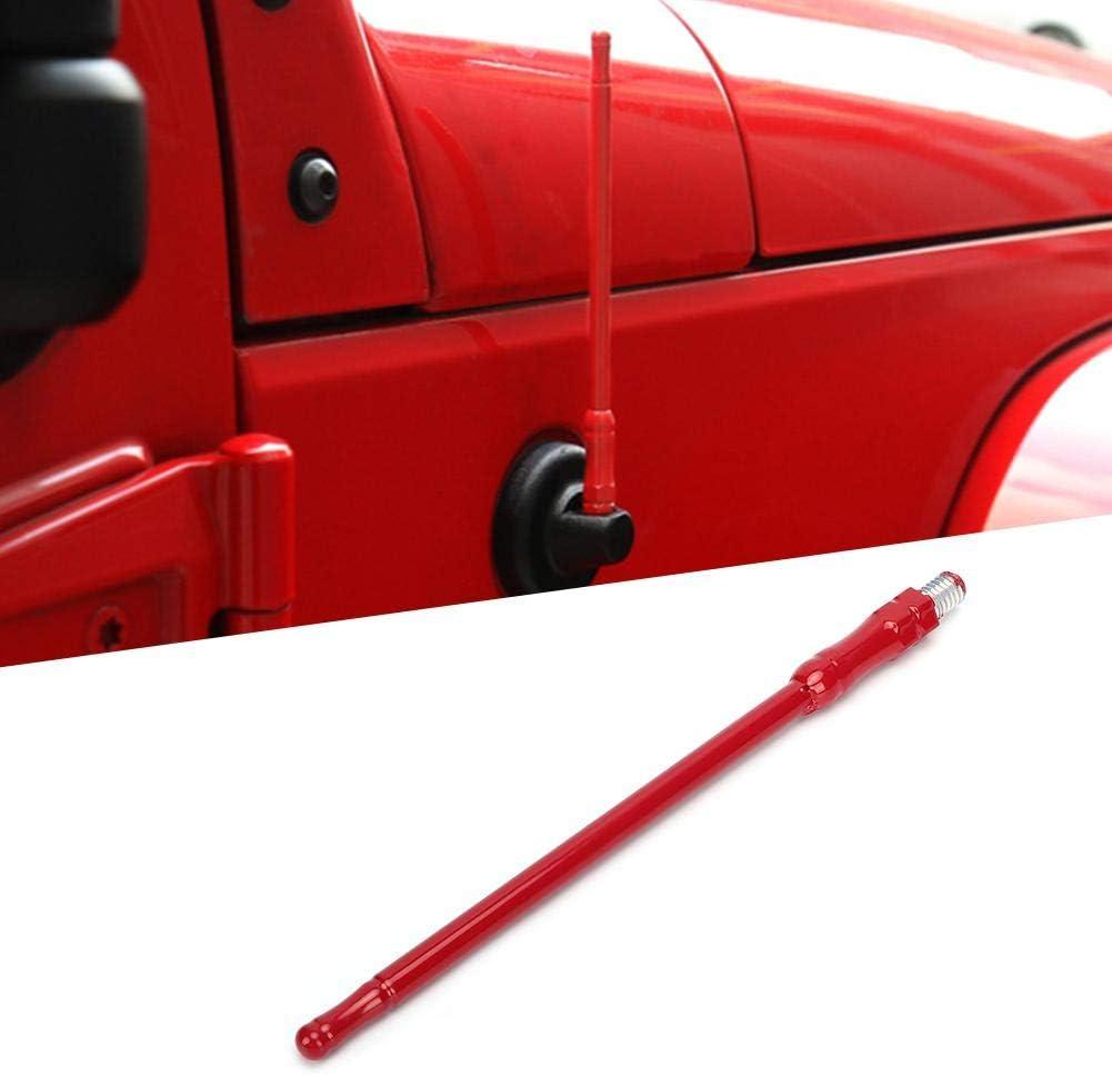 rojo Duokon 6.7in Accesorio de reemplazo de antena de radio de coche para Jeep Wrangler 2007-2017