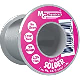 "MG Chemicals 60/40 No Clean Leaded Solder, 0.032"" Diameter, 1 lbs Spool"