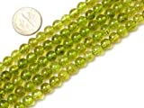 6mm Round Green Peridot Beads Strand 15 Inch Jewelry Making Beads
