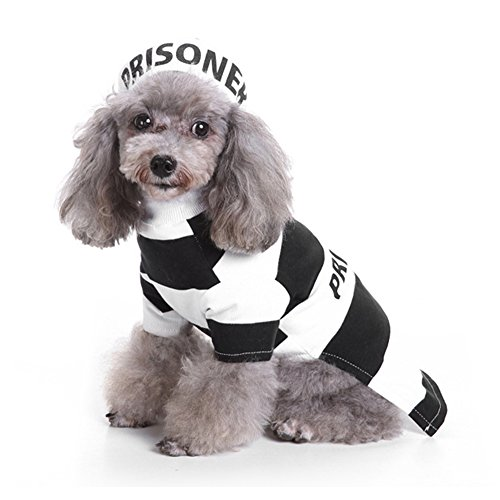 LUCKSTAR Prisoner Dog Costume - Prison Pooch Dog Halloween Costume Party Pet Dog Costume Clothes Cos - http://coolthings.us