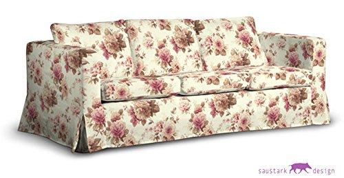 saustark design edinburgh long cover for ikea karlanda 3 seat sofa floral beige ektorp