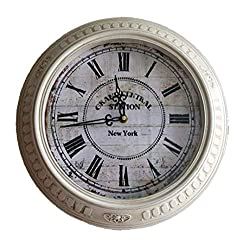 zsqebd Wall Clock Vintage Números Romanos Reloj De Pared Europeo Sala De Estar Decoración Antiguo Silencioso Reloj De Cuarzo 14 Pulgadas