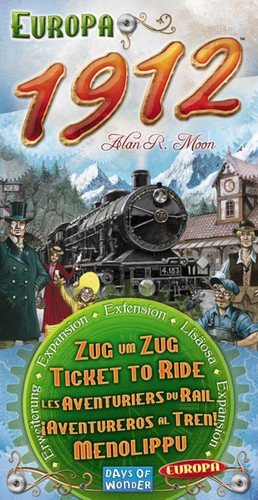 Ticket To Ride: 1912 Expansion - Ride Europe Board Game