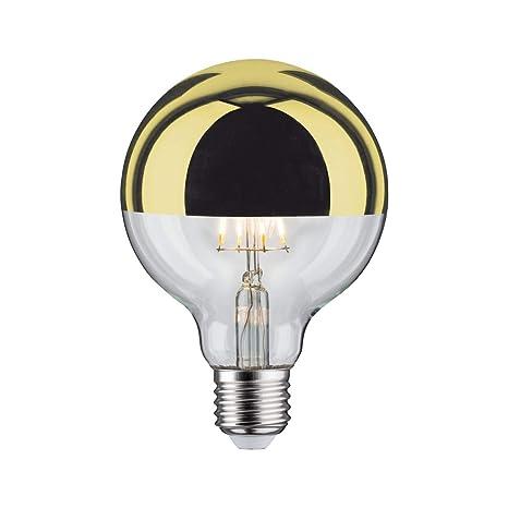 Bombilla GLOBO LED Regulable 5W con cúpula dorada de diámetro 95mm rosca E27 de luz cálida