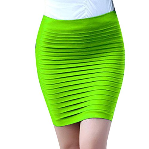 Unfinished Armoires Tv (NewKelly 1PC Fashion Womens Elastic Pleated High Waist Package Hip Short Skirt (Green))