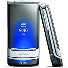 Nokia Mural 6750 Unlocked GSM Flip Phone with Second External OLED Display, 2MP Camera, Video, Bluetooth, MP3/MP4 Player and microSD Slot - Silver