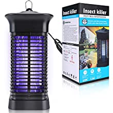 Bug Zapper, 4000V High Powered Electric Mosquito Killer for Indoor and Outdoor, Insect Fly Trap with 15W Mosquito Lamp Bulb for Backyard, Patio, Home and Office