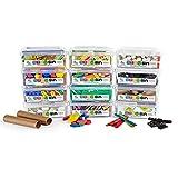hand2mind STEM Bins by Brooke Brown, Essentials Kit, 12-Bin Makerspace Set with 18 Manipulatives