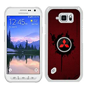 Abstract Custom Samsung S6 Active Case,Mitsubishi logo 1 White Cool Design Samsung Galaxy S6 Active Phone Case