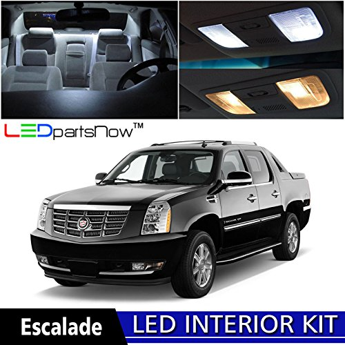 LEDpartsNow 2007-2014 Cadillac Escalade EXT LED Interior Lights Accessories Replacement Package Kit (16 Pieces), WHITE