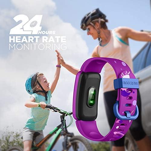 BIGGERFIVE Fitness Tracker Watch for Kids Girls Boys Teens, Activity Tracker, Pedometer, Heart Rate Sleep Monitor, Vibrating Alarm Clock, IP68 Waterproof Calorie Step Counter Watch 5