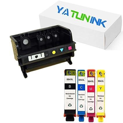 yatunink Premium de repuesto para HP 564 4 Ranura cabezal de ...