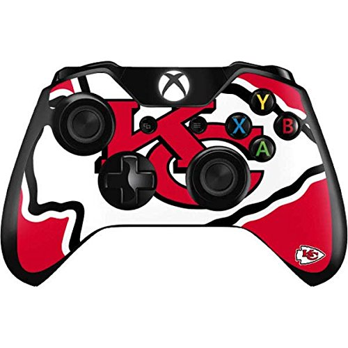 Skinit Decal Gaming Skin for Xbox One Controller - Officially Licensed NFL Kansas City Chiefs Large Logo Design