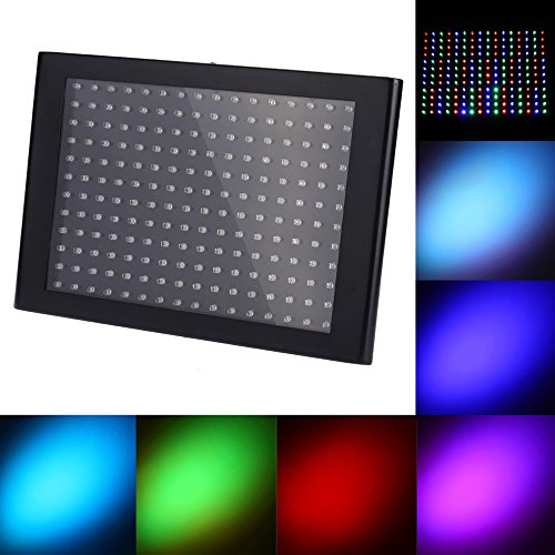 Docooler 35W 192 LEDs Stage RGB Effect Light Flat Panel Light Flash Strobe DMX512/ Sound Activated/ Auto Run/ Master-slave for Party Disco DJ ()