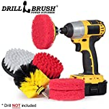 Drill Brush Power Scrubber Attachments - Bathroom Kitchen Cleaning Supplies - Brushes For